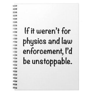 I'd be unstoppable notebook