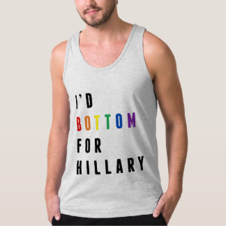I'd Bottom for Hillary - LGBT - American Apparel Fine Jersey Tank Top