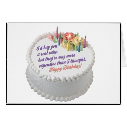 I'd Buy You a Real Cake Cards