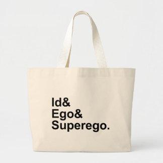 Id Ego Superego | Three Parts of the Psyche Jumbo Tote Bag