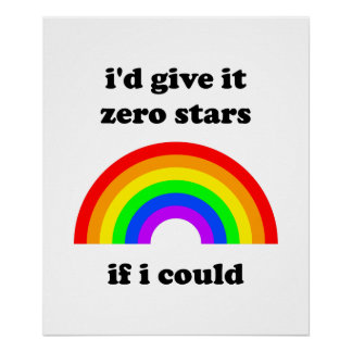 """I'd give it zero stars"" poster"
