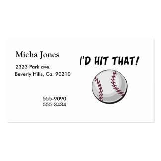 I'd Hit That Baseball Business Card