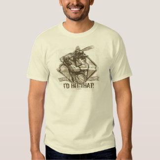 I'd Hit That Baseball by Mudge Studios T-shirt