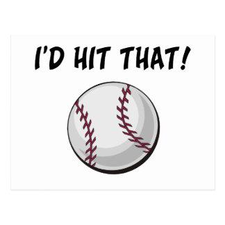 I'd Hit That Baseball Postcard