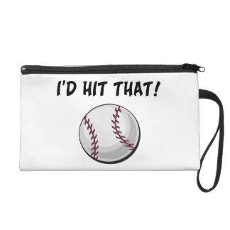 I'd Hit That Baseball Wristlet