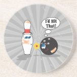 id hit that bowling ball thinks to pin bowling hum coaster