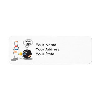 id hit that bowling ball thinks to pin bowling hum return address label