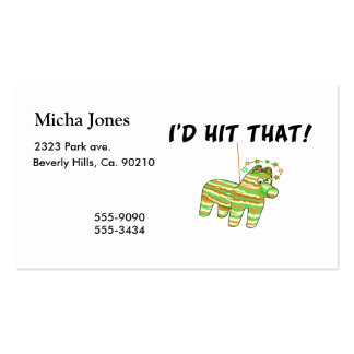 I'd Hit That Pinata Double-Sided Standard Business Cards (Pack Of 100)