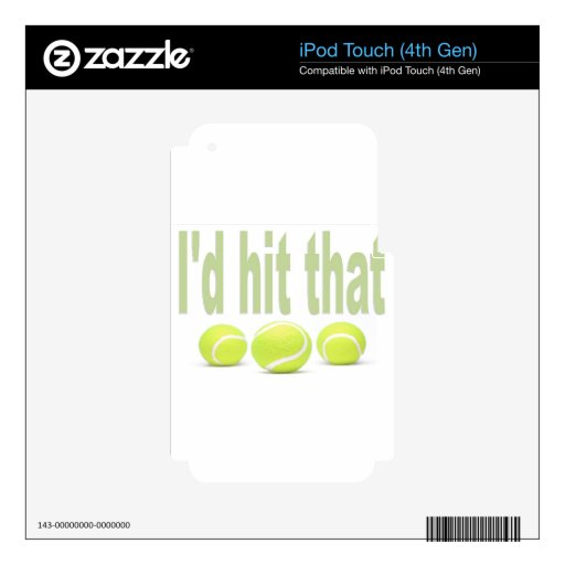 I'd hit that tennis iPod touch 4G decal