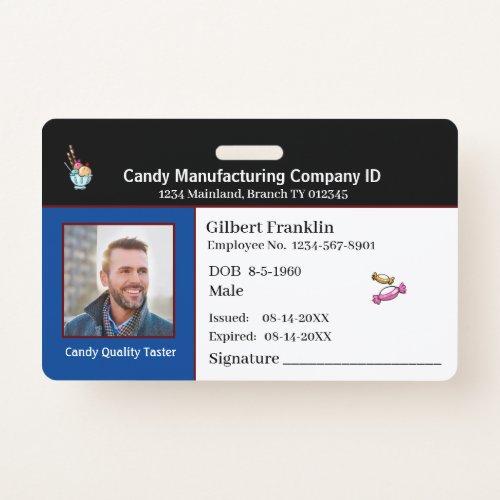 ID Identification Card Employee Photo Custom Badge