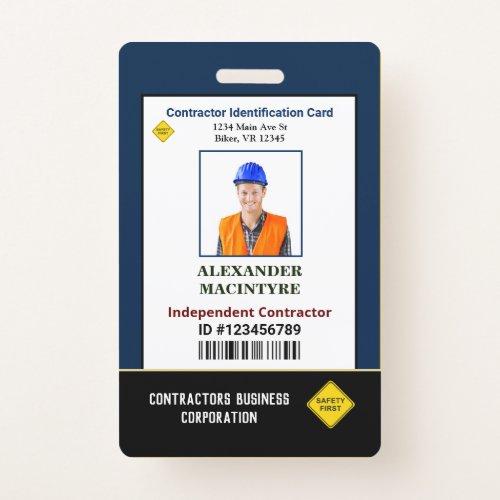 ID Identification Card Photo Employee Custom Badge