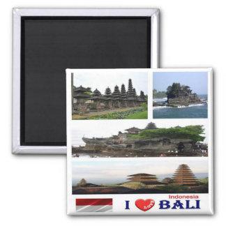 ID - Indonesia - Bali - I Love - Collage Mosaic Magnet