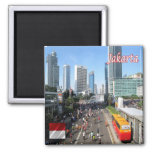 ID - Indonesia - Jakarta Car Free Day 2 Inch Square Magnet