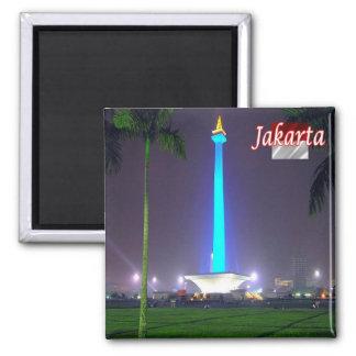 ID Indonesia Medan Merdeka Park National Monument 2 Inch Square Magnet