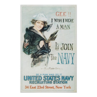 I'd Join the Navy Poster
