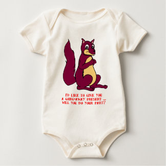 I'd like to give you a going away present ... baby bodysuit