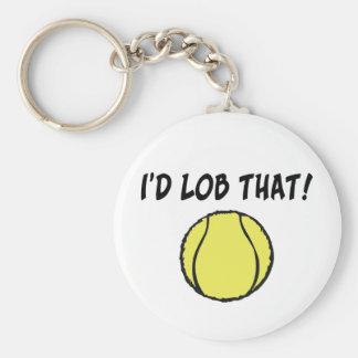 I'd Lob That Ball Key Chain