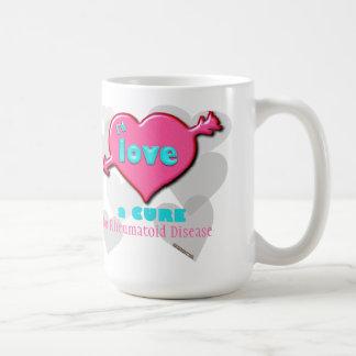 I'd love a cure for____ classic white coffee mug