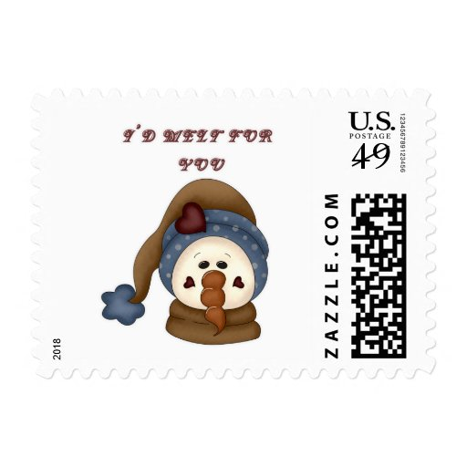 I'd Melt for You Snowman Postage