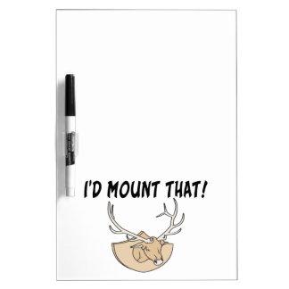 I'd Mount That Deer Head Dry Erase Board