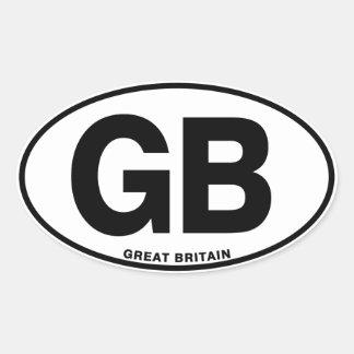 ID Oval GB Great Britain Oval Sticker