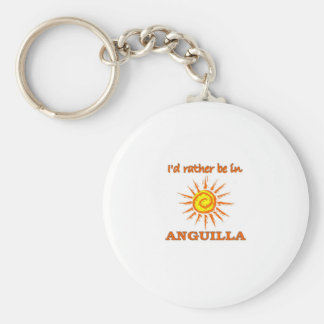 I'd Rathe Be in Anguilla Key Chains