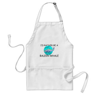 I'd Rather Be A Baleen Whale Adult Apron