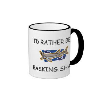 I'd Rather Be A Basking Shark Mugs