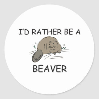 I'd Rather Be A Beaver Stickers