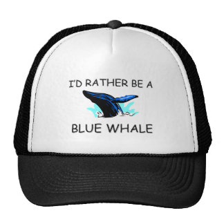 I'd Rather Be A Blue Whale Trucker Hat