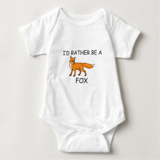 I'd Rather Be A Fox Baby Bodysuit