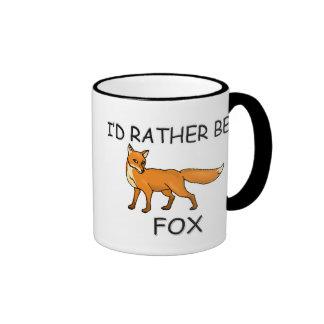 I'd Rather Be A Fox Ringer Mug