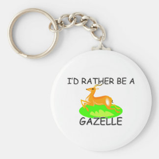 I'd Rather Be A Gazelle Basic Round Button Keychain