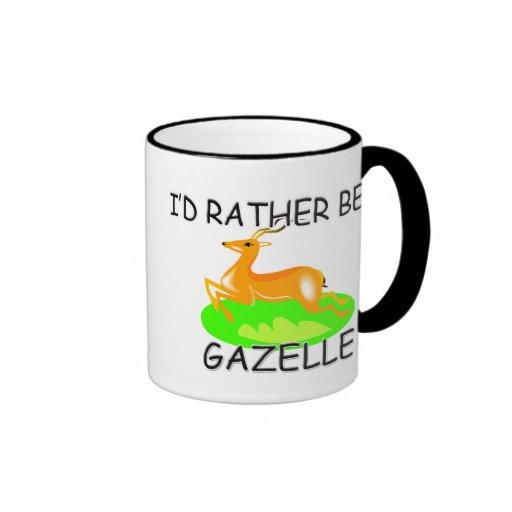 I'd Rather Be A Gazelle Coffee Mugs