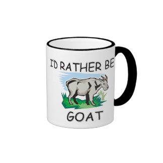 I'd Rather Be A Goat Ringer Mug