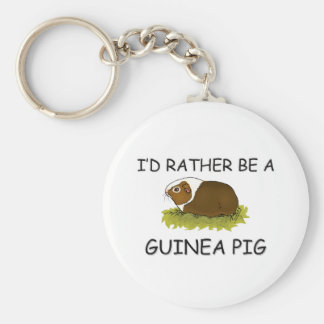 I'd Rather Be A Guinea Pig Key Chains