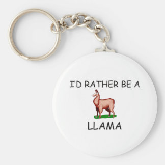I'd Rather Be A Llama Basic Round Button Keychain