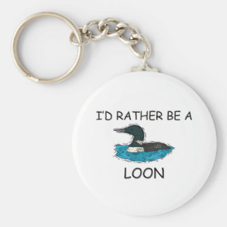 I'd Rather Be A Loon Keychains