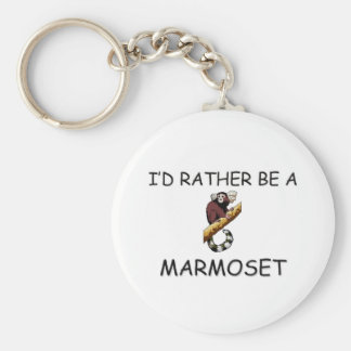 I'd Rather Be A Marmoset Basic Round Button Keychain
