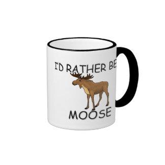 I'd Rather Be A Moose Ringer Mug