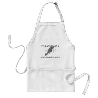 I'd Rather Be A Northern Right Whale Adult Apron