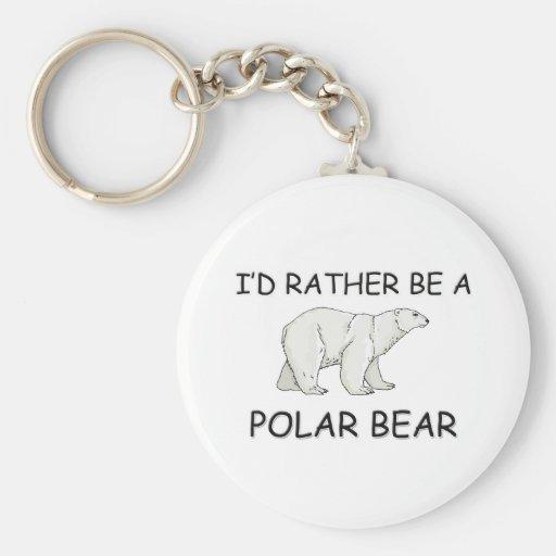 I'd Rather Be A Polar Bear Keychains