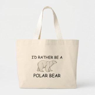 I'd Rather Be A Polar Bear Large Tote Bag