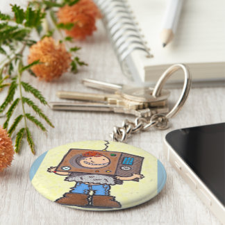 I'd Rather Be A Robot Keychain