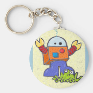 I'd Rather Be A Robot Keychain 2
