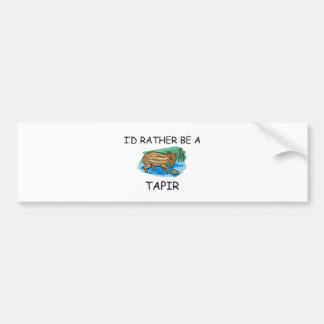 I'd Rather Be A Tapir Bumper Stickers