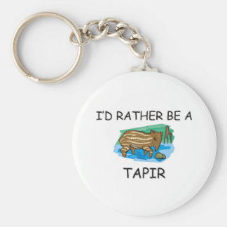 I'd Rather Be A Tapir Keychain