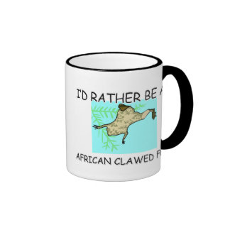 I'd Rather Be An African Clawed Frog Ringer Coffee Mug