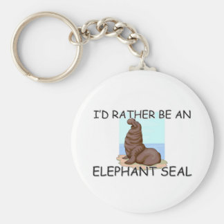 I'd Rather Be An Elephant Seal Basic Round Button Keychain