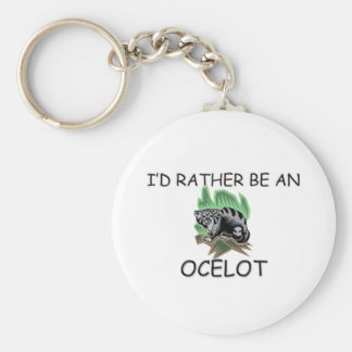 I'd Rather Be An Ocelot Basic Round Button Keychain